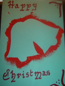 Stencil Christmas Card