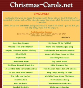 christmas carols - Classic Christmas Songs List