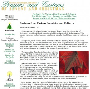 Christmas Prayers and Customs