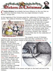 Charles Dickens and Christmas