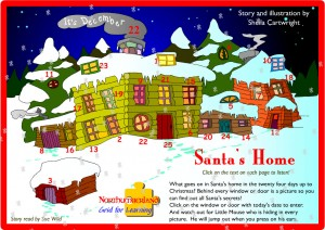 Santa's Home Advent Calendar