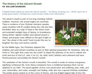 History of the Advent Wreath