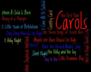 Christmas Carols Wordle