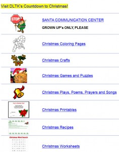 DLTK's Christmas Activities for Children