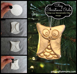 Christmas Clay Owls